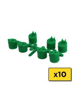 Weathermatic-6095-13 Degree Trajectory Nozzles (Green) for 6000 Pro Series Rotors (Bag of 10) (H)