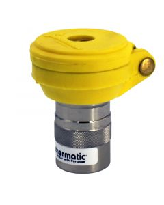 """Weathermatic-7643-QCVLYEL-1"""" Quick Coupling Valve, Yellow Cover with Locking Cover, NPT"""