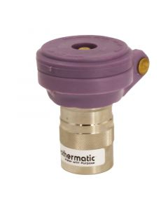 """Weathermatic-7645-QCVLNP-1"""" Quick Coupling Valve With Locking Cover And Non-Potable Warning Cap, NPT"""