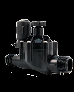 "Weathermatic-N-100MBF-H Light Duty Nitro Plastic Valve (1"" Male x Barb w/ Flow Control)"